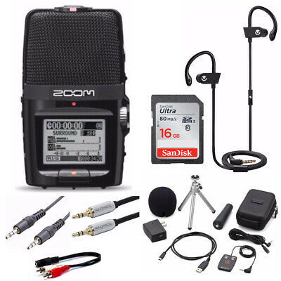 Zoom H2n Handy Handheld Digital Recorder with Accessory Package and 16GB Card