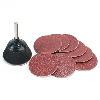 "2"" Hook and Loop Sanding Pad with Drill Adapter & 10pc 80 Grit Sandpaper"