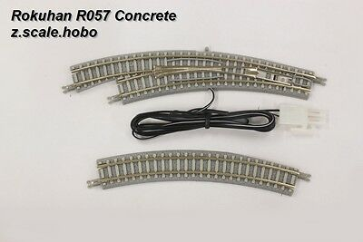 Rokuhan R057 Z Scale Curved Rem/Man Turnout Left Hand Switch *NEW $0 SHIP in USA