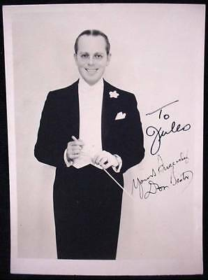 DON BESTOR Signed Photograph Orchestra Conductor