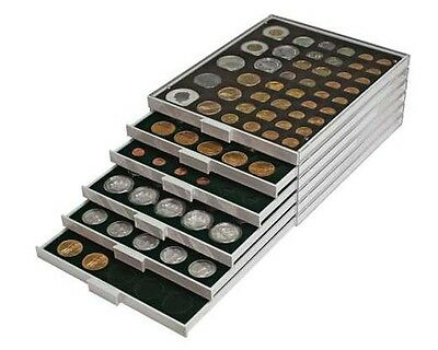 Lindner 2122C Coin box Carbo 20 square comp. for OCTOS and coin holders 50 mm