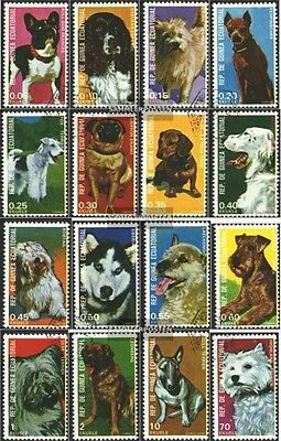 Equatorial-Guinea 1054-1069 (complete issue) used 1977 Dogs