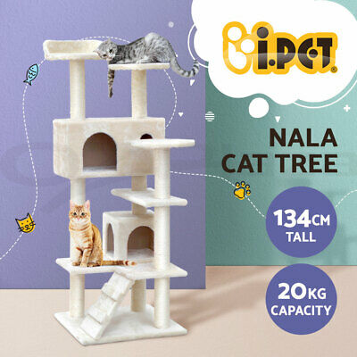 Cat Scratching Post Tree Scratcher Pole Furniture Gym House Toy Small 134cm GR