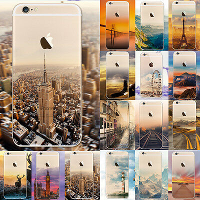 Ultra Fin Coque TPU gel silicone souple etui Peint Case Cover Housse pour iphone
