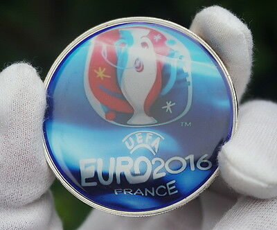 2016 UEFA European Football Championship Delaunay Cup Silver Coin Token 50mm