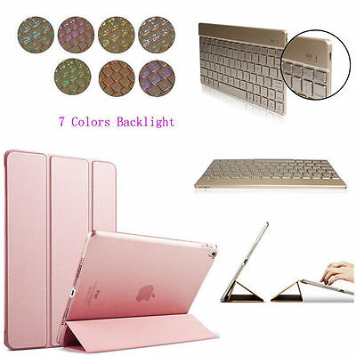 Magnetic Smart Cover Leather &Back Case backlits keyboard for Apple iPad Pro 9.7