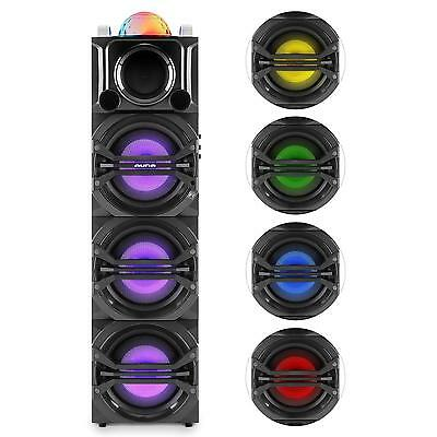 Party Audio Sound System Lautsprecher Anlage Mobil Disco Tragbar Usb Mp3 Ukw Aux
