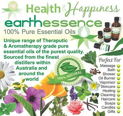 earthessence CERTIFIED 100% PURE ESSENTIAL OILS ~ Most Popular Range ~ FREE GIFT