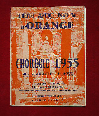ORANGE ( Vaucluse ) :  THEATRE ANTIQUE  NATIONAL CHOREGIE 1955  !