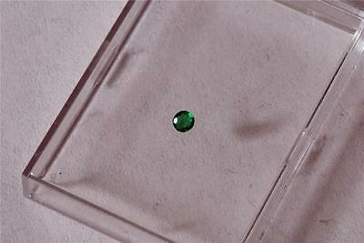 SALE - 1 x Loose 2.26mm Green Real EMERALD Round Cut Stone. Used. EM 5