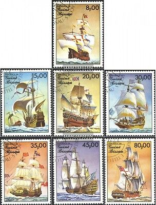 Guinea-Bissau 872-878 (complete issue) used 1985 Sailboats