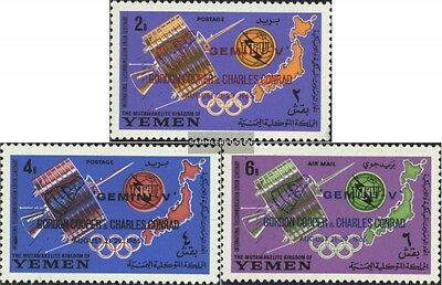 Yemen(UK) 179A-181A (complete issue) unmounted mint / never hinged 1965 Telecomm