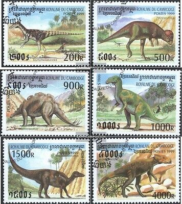 Cambodia 1937-1942 (complete issue) used 1999 Prehistoric Anima