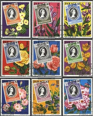 Paraguay 3081-3089 (complete issue) used 1978 Coronation of Kin