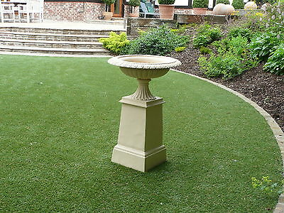"Victorian  Classic ""tazza"" Style Cast Iron Large Quality Garden Urn Cream Super"