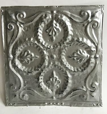 "12"" x 12"" Antique Tin Ceiling Tile Silver 110a Metal *SEE OUR SALVAGE VIDEOS*"