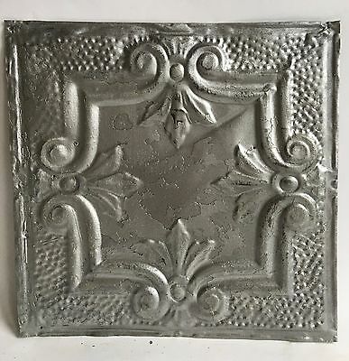 """12"""" x 12"""" Antique Tin Ceiling Tile Silver 121a Metal *SEE OUR SALVAGE VIDEOS*"""
