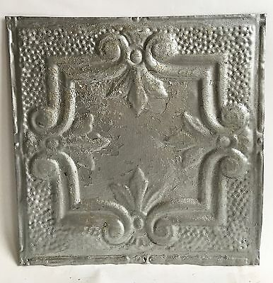 "12"" x 12"" Antique Tin Ceiling Tile Silver 120a Metal *SEE OUR SALVAGE VIDEOS*"
