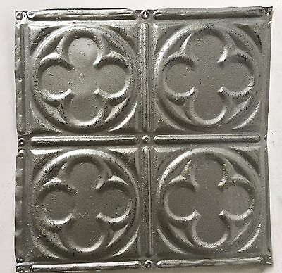 "12"" x 12"" Antique Tin Ceiling Tile Silver 115a Metal"