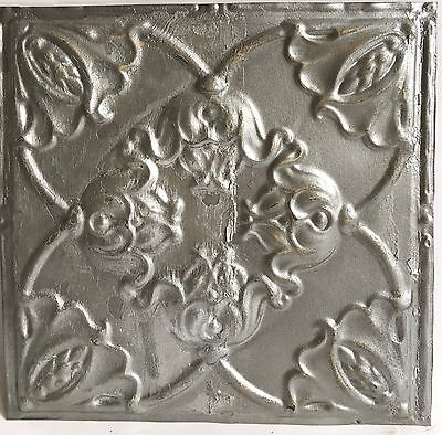 """12"""" x 12"""" Antique Tin Ceiling Tile Silver 119a Metal *SEE OUR SALVAGE VIDEOS*"""