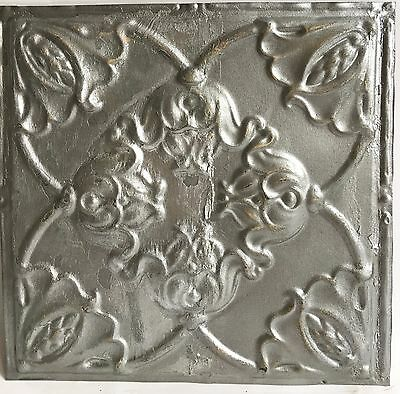 "12"" x 12"" Antique Tin Ceiling Tile Silver 119a Metal"