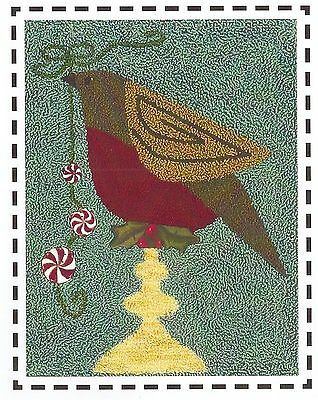 Christmas Robin - Artful Offerings Punchneedle Design New