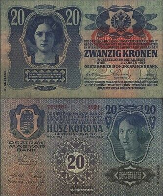 Austria catalog-number.: 173 (53a) used (III) 1919 20 Crowns