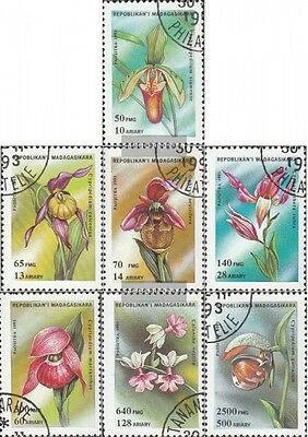 Madagascar 1570-1576 (complete issue) used 1993 Orchids