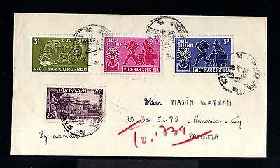 10668-VIETNAM-OLD COVER SAIGON to PANAMA CITY (panama).1960.