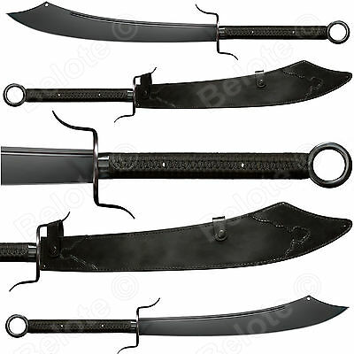 """Cold Steel MMA Chinese War Sword 38"""" 62oz 1055 Carbon W/ Leather Scabbard 88CWSM"""
