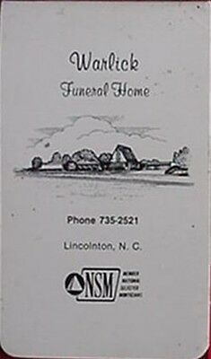 Warlick Funeral Home (Lincolnton, North Carolina) Notepad