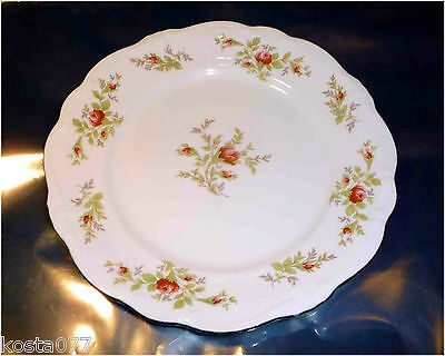 "Vintage JOHANN HAVILAND BAVARIA GERMANY MOSS ROSE APPROX. 10"" DINNER PLATE, 6"