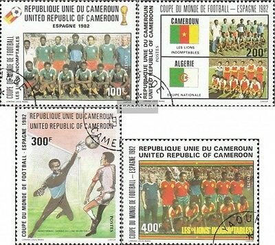 Cameroon 979-982 fine used / cancelled 1982 Football-WM in Spain