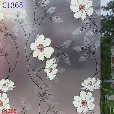 92cm x1m Floral Privacy Frosted Frosting Removable Glass Window Film c1365