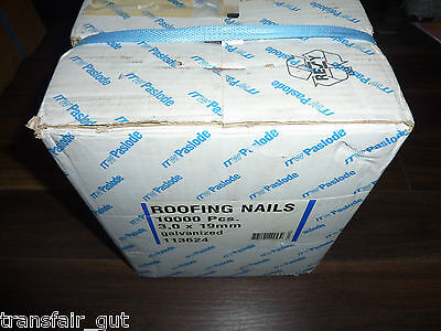 10.000 Nägel Roofing nails Dachpappennagel 3,0x19 verzinkt Paslode ITW 113624