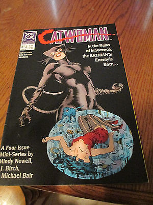 CATWOMAN Mini-Series #1 DC comic book  1989 ( VF to NM )