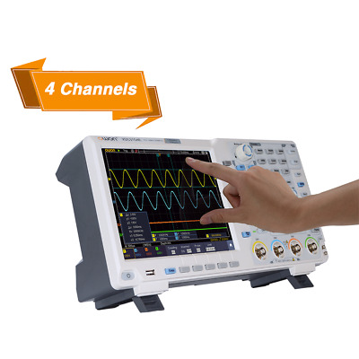 OWON XDS3204E Oscilloscope 200Mhz DSO 4Ch 1GS/S 8bits Touch 45,000 wfms/s 40M Re