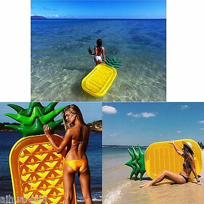 Inflatable Pineapple Shape Floating Lounge Chair,Pool Raft Boats for Adults Kids