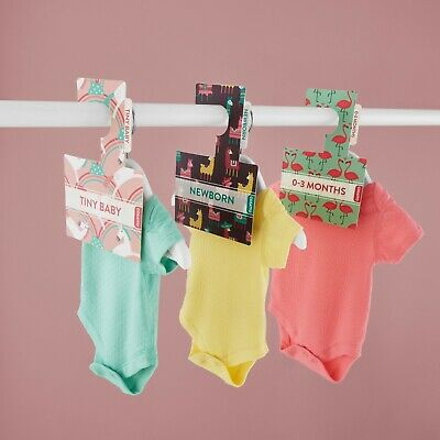 BABY WARDROBE DIVIDERS Peek-a-Boo Hangers | Pk 7 | NB - 2 Yrs | Organise Clothes