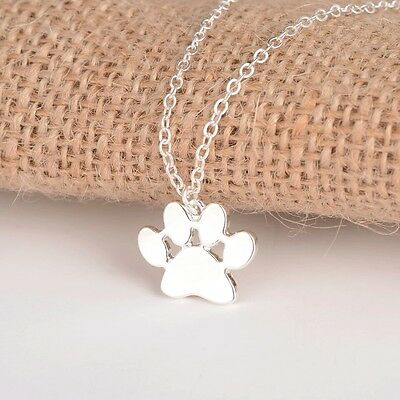 Paws pendant mixed breed dog awareness necklace dog collectible