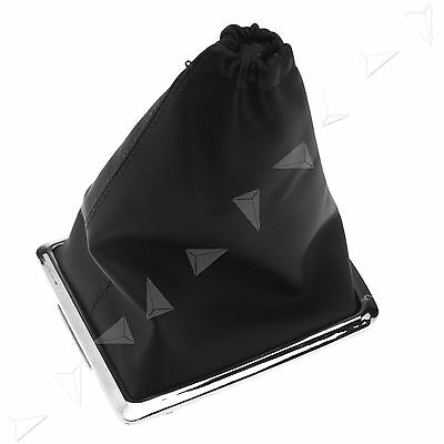 Black Shift Knob Cover Boot Gaiter Gear Cover PU For Ford Focus 05-10
