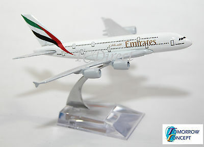 16cm 1:450 EMIRATES A380 Airplane Aeroplane Diecast Metal Plane Toy Model