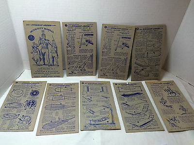 Vintage 1949-1950s lot of Nabisco Straight Arrow Injun-Uities Cards Manual+Cover