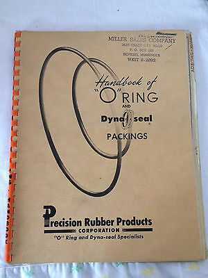 "Handbook of ""O"" Ring and Dyna-seal Packings Company -Vtg 1956 Manufacturing Book"