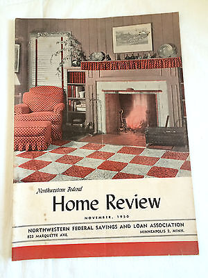 Mpls MN Northwestern Federal Savings & Loan Home Review Magazine Vtg 1950 Adv