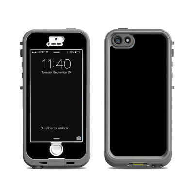 Skin for LifeProof Nuud iPhone 5S - Solid Black - Sticker Decal