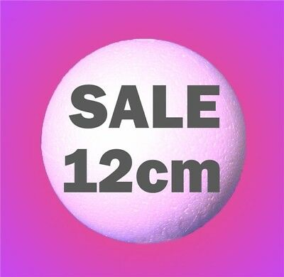 FIVE Polystyrene Balls 12cm 120mm  Craft Sweet Tree Christmas Party Decoration