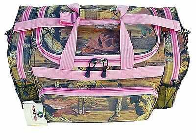 WOMENS Pink Camo DUFFLE BAG Oak Tree Sport Diaper Luggage Storage Case Tools NEW