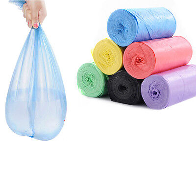 1-Roll 50pcs Rubbish Garbage Kitchen Toilet Clean-up Waste Trash Bags 7 Colors