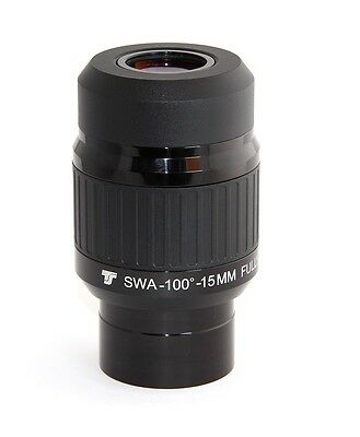 "TS-Optics Oculare 100° - 15mm - 2"" (50,8) per Telescopio, TSWWA15"